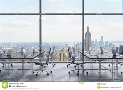workplaces in a modern panoramic office new york city