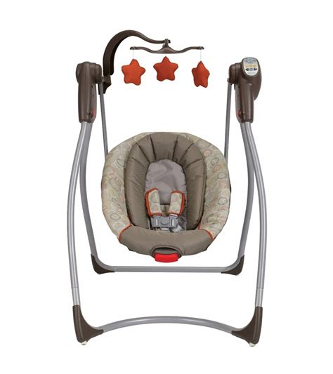baby swing that plugs in graco comfy cove lx no plug infant swing forecaster