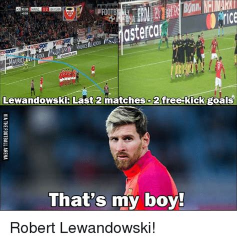astercar lewandowski last 2 matches 2 free kick goals that