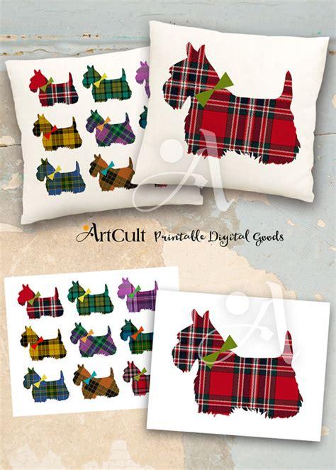 printable fabric transfers 2 printable digital sheets scottish terrier downloadable