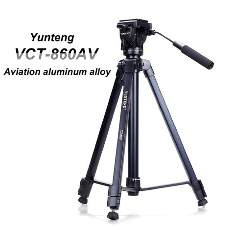 new professional yunteng vct860 aluminum tripod for