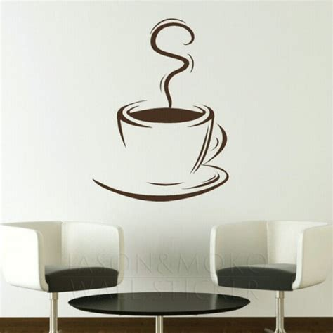 free wall stickers coffee cup removable kitchen wall stickers wall decals large wall murals for home mural