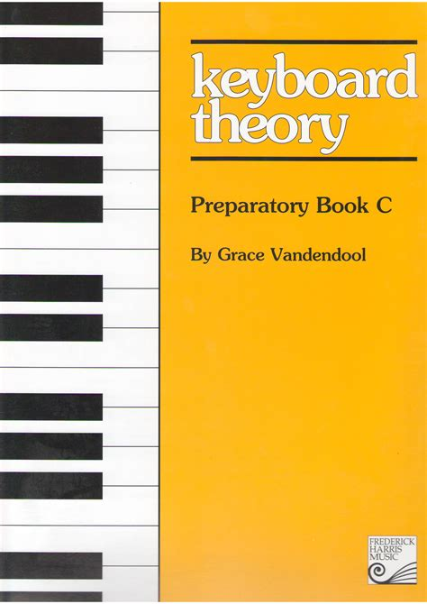keyboard tutorial book keyboard theory preparatory series book c music theory