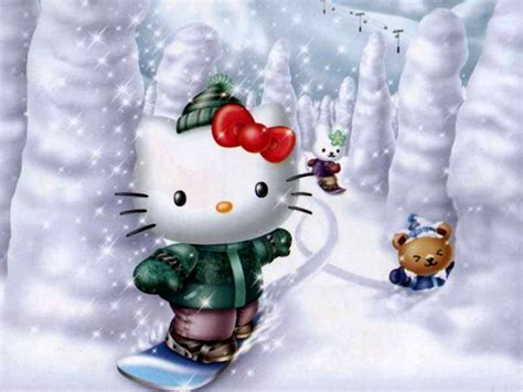 hello kitty holiday wallpaper christmas hello kitty wallpapers wallpaper cave