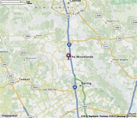 map of the woodlands texas the woodlands tx map mapquest cities where i worked