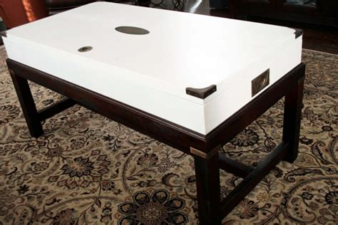 picture of stylish and white coffee table makeover