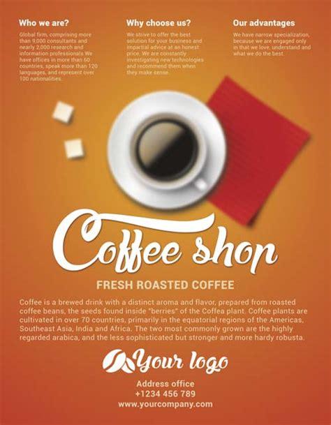 cafe flyer template freepsdflyer free coffee shop flyer psd