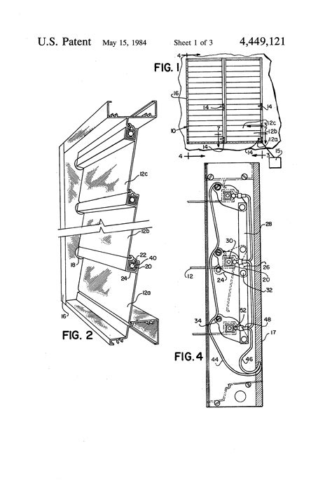 Jalousie Mechanismus by Patent Us4449121 Jalousie With Integral Alarm Circuit