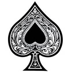 feminine spade tattoo design of esta ace of spades the ace of spades