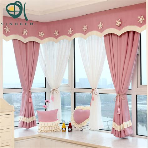 blackout curtains bay window new design korean products cotton linen polyester fresh