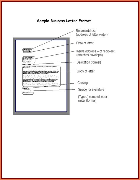 template  writing  formal letter