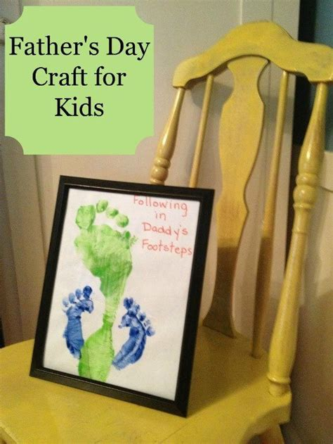 fathers day craft for s day craft for following in s footsteps