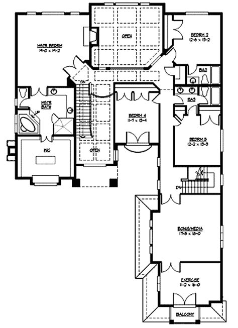 Two Story Ceilings 23359jd 2nd Floor Master Suite Cad Two Story House Plans Elevator