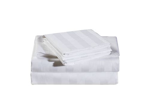 white bed in a bag 7 piece damask stripe 500 thread count cotton bed in a bag