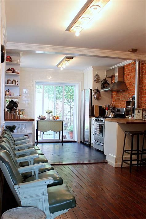row home kitchen design eclectic south philly row house http www homeadore com