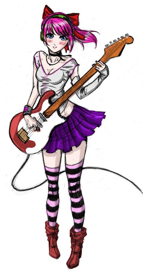 imagenes de anime rock guitar anime girl msyugioh123 photo 34671733 fanpop