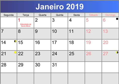 Calendã Janeiro 2019 Calend 225 Janeiro 2019 Printable Pdf Abc Calendario Pt