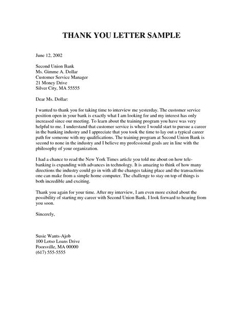 personal thank you letter template thank you letter format best template collection