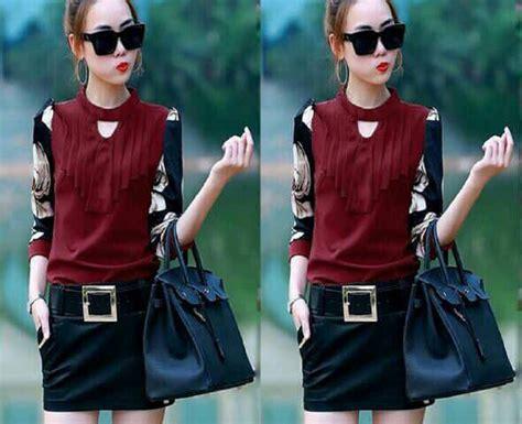 Setelan Setelan Baju Wanita Cantik Supliyer Baju setelan baju rok wanita cantik model terbaru warna merah murah