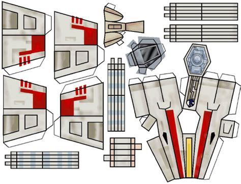 How To Make A Paper X Wing That Flies - wars x wing papertoy papercraft and paper toys