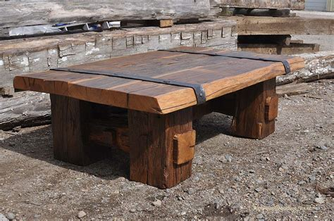 reclaimed wood coffee table  iron straps antique woodworks