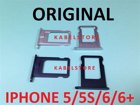 Sim Tray Tempat Dudukan Sim Card 5 Air Simlock 905256 905264 jual sim tray iphone 5 5s 6 6 plus tempat kartu sim card apple original kabel store