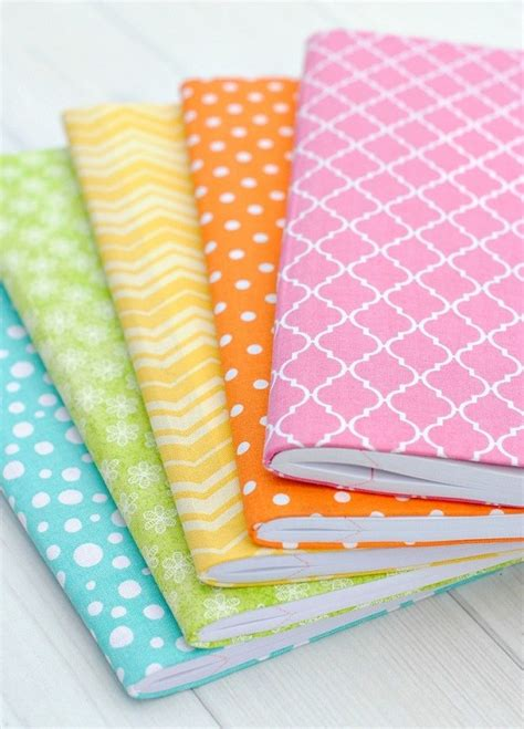 pattern for fabric journal cover tutorial no sew fabric covered journals sewing