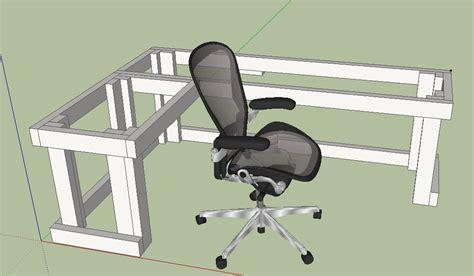 Diy L Shape Computer Desk Design This Would Work Well For L Shaped Desk Plans
