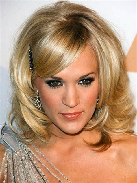 hairstyles medium length with bangs