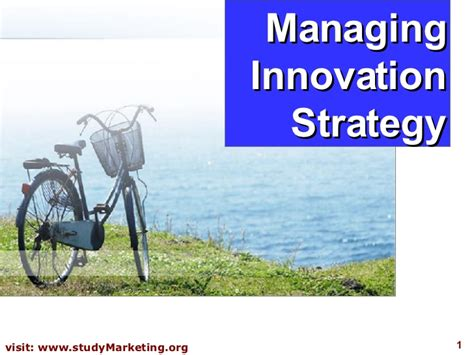 Mba Strategy And Innovation by Innovation Strategy