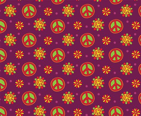 Hippie Vector Pattern | nice hippie pattern background vector art graphics