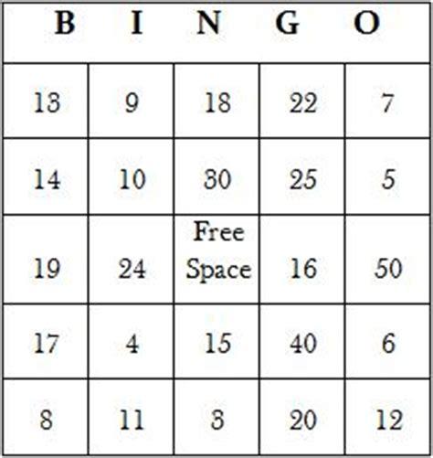 Math Bingo Printable