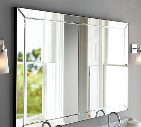 double wide bathroom mirror astor double width mirror pottery barn