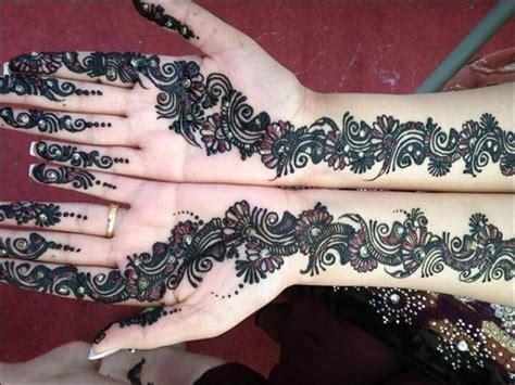 Henna Golecha Hitam Dan Maroon 100 gambar henna tangan yang cantik dan simple beserta cara membuatnya rejeki nomplok