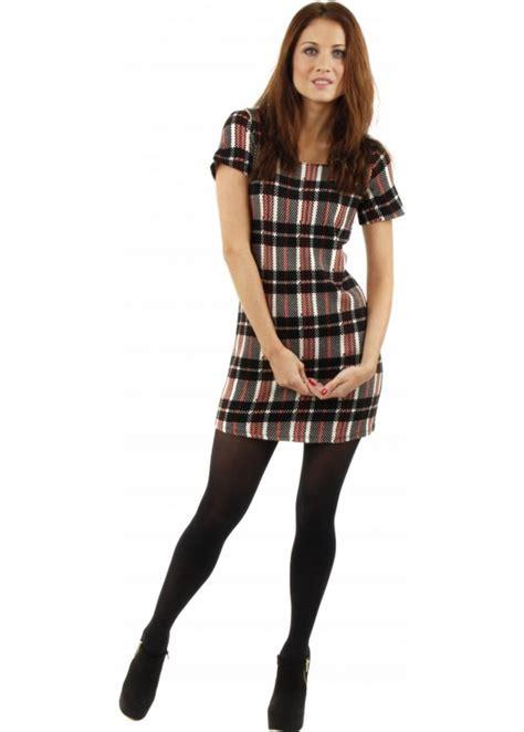 Tartan Mini Dress tartan dress tartan knitted mini dress tartan trend