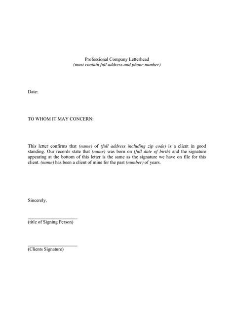 Professional Reference Letter Template Word Sle Professional Reference Letter In Word And Pdf Formats