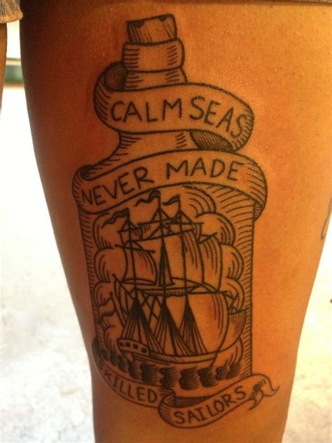 calm seas never made skilled sailors tattoo haight ashbury