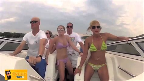 boat crash turn down for what turn down for what smashing chixx in crazy boat best