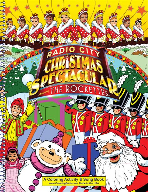 rockettes coloring page coloring book publishers radio city christmas