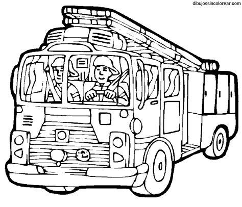 imagenes para colorear bombero dibujos de camiones de bomberos para colorear