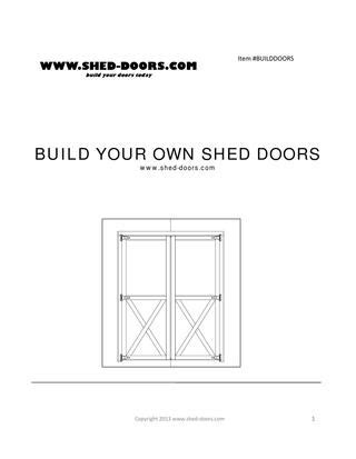 build   shed doors  brian  issuu