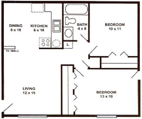 2 Bedroom 1 Bath Apartment by Apartments In Saginaw Place Features Rates