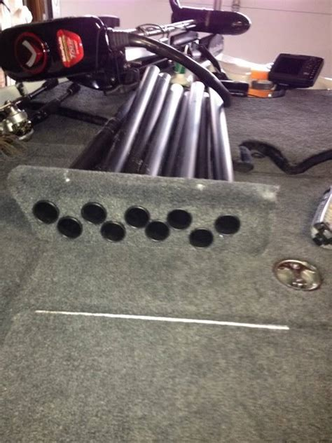 bass boat rod tubes how man rods and reels do you store in your basscat