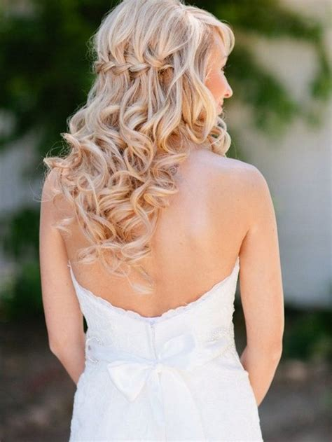 wedding hair do inspiration curly waterfall