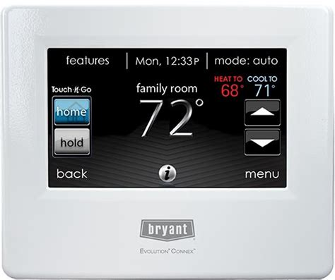 Controlled Comfort Heating And Cooling by Bryant Evolution Systxbbecw01 Connex Thermostat