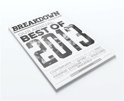 magazine layout breakdown breakdown magazine on behance