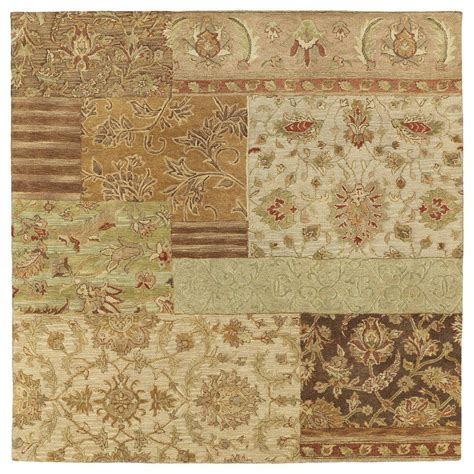 8 square area rug kaleen calais orleans bronze 8 ft x 8 ft square area rug 7502 18 8x8 the home depot