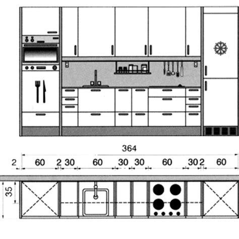 plan am駭agement cuisine plan cuisine gratuit 20 plans de cuisine de 1 m2 224 32 m2