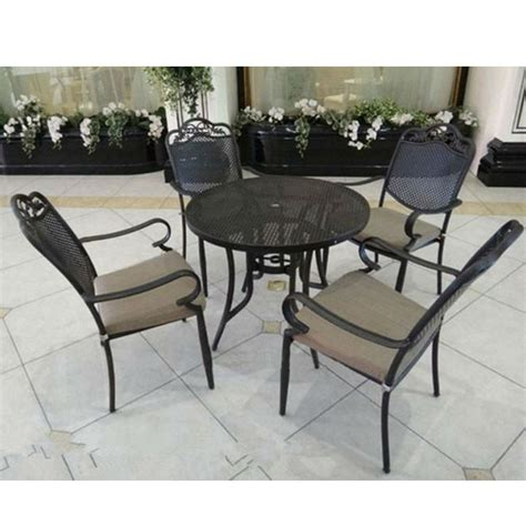 iron patio table and chairs outdoor wrought iron patio furniture