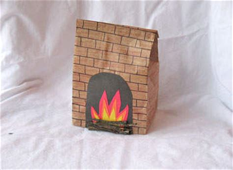 What Can You Make With Construction Paper - paper bag fireplace family crafts